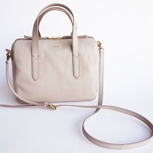 FOSSIL Sydney Satchel in Mineral Grey